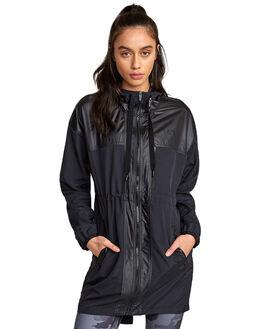 BLACK WOMENS CLOTHING RVCA ACTIVEWEAR - RV-R407894-BLK