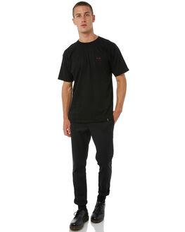 BLACK MENS CLOTHING HUF TEES - TS00182BLK