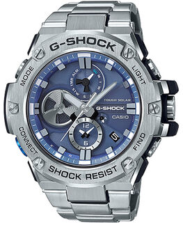 STAINLESS STEEL BLUE MENS ACCESSORIES G SHOCK WATCHES - GSTB100D-2ASSBLU
