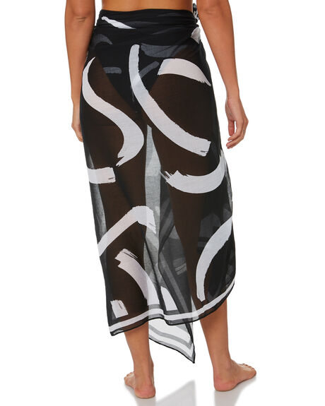 BLACK WOMENS SWIMWEAR SEAFOLLY OVERSWIM - 54354-SGBLK