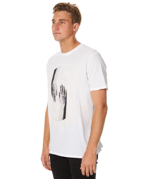 WHITE OUTLET MENS OURCASTE TEES - T1119WHT