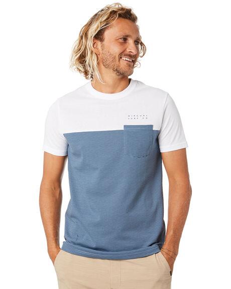 DUSTY BLUE MENS CLOTHING RIP CURL TEES - CTELU93458