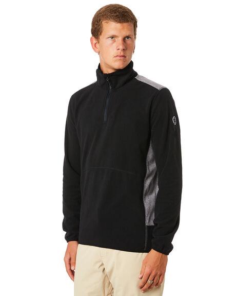 BLACK MENS CLOTHING QUIKSILVER JUMPERS - EQYFT03784KVJ0