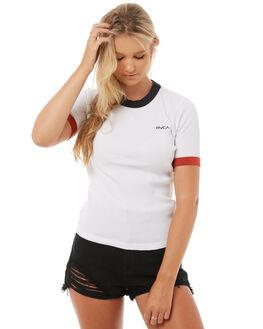VINTAGE WHIT WOMENS CLOTHING RVCA TEES - R283701VWHT
