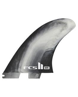 BLACK WHITE SWIRL BOARDSPORTS SURF FCS FINS - FMRX-PC01-TS-RBKWHS1