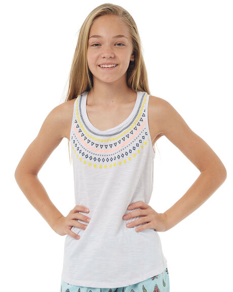 WHITE KIDS GIRLS EVES SISTER SINGLETS - 9900059WHT
