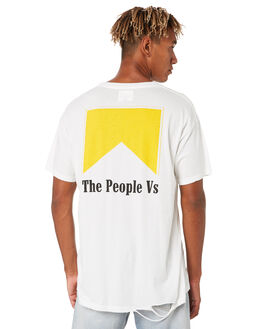 WHITE MENS CLOTHING THE PEOPLE VS TEES - HS19062WHT