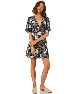 PARADISE FLORAL DA WOMENS CLOTHING MLM LABEL DRESSES - MLM504D-PAR