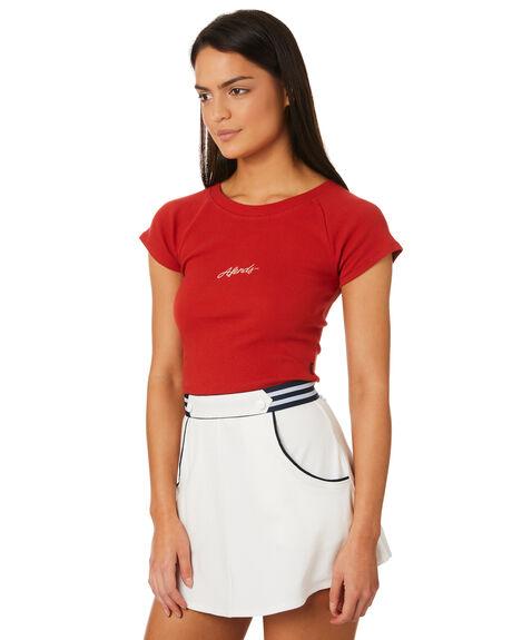 DEEP CHERRY WOMENS CLOTHING AFENDS TEES - W184001CHERR