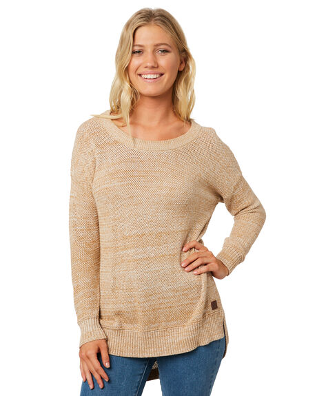 TAN WOMENS CLOTHING RIP CURL KNITS + CARDIGANS - GSWEL11046