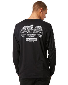 BLACK MENS CLOTHING SEA SHEPHERD TEES - SSA858ABLK