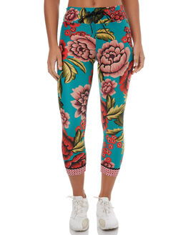 TEAL MULTI WOMENS CLOTHING THE UPSIDE ACTIVEWEAR - UPL1530TEMUL