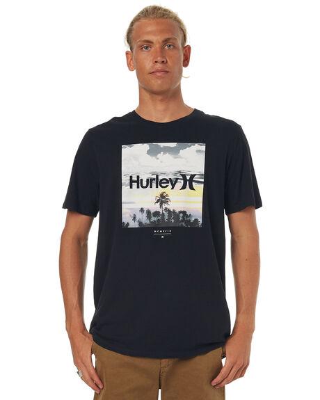 BLACK MENS CLOTHING HURLEY TEES - AMTSSPTT00A