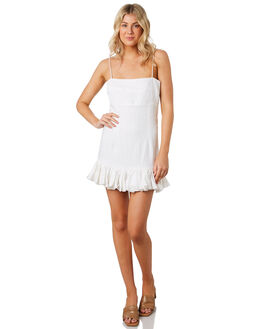 WHITE LINEN WOMENS CLOTHING MLM LABEL DRESSES - MLM609AWHT
