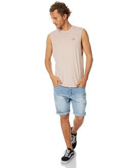 ROSE SMOKE MENS CLOTHING THRILLS SINGLETS - TS7-137PRSMK