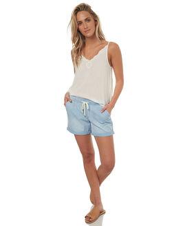 LIGHT BLUE WOMENS CLOTHING ROXY SHORTS - ERJDS03150BFG0