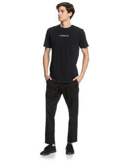 BLACK MENS CLOTHING QUIKSILVER TEES - EQYZT05963-KVJ0