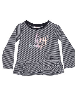 NAVY WHITE KIDS TODDLER GIRLS EVES SISTER TEES - 8010055STR