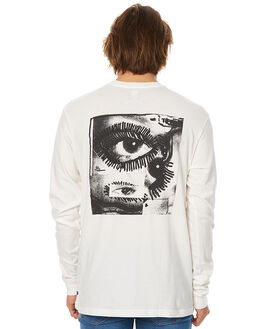 ANTIQUE WHITE MENS CLOTHING RVCA TEES - R373091AWHT