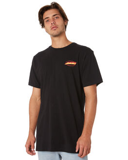 BLACK MENS CLOTHING SANTA CRUZ TEES - SC-MTA9141BLK