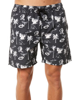 BLACK MENS CLOTHING SWELL BOARDSHORTS - S5184232BLACK