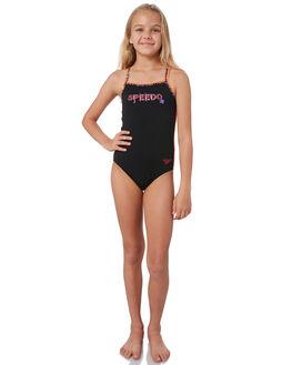 BLACK COLOUR KIDS GIRLS SPEEDO SWIMWEAR - 42795-7648MUL