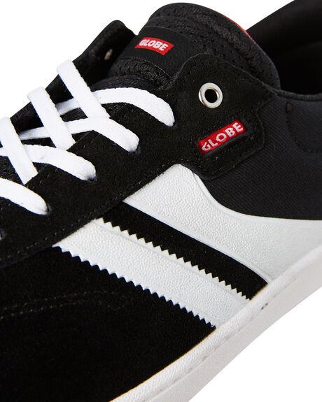 BLACK WHITE MENS FOOTWEAR GLOBE SNEAKERS - GBEMPIRE20455