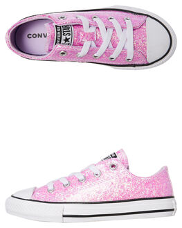 LILAC SNOW KIDS GIRLS CONVERSE SNEAKERS - 665978CLILAC