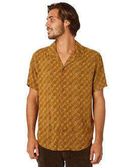 VINTAGE BROWN MENS CLOTHING RHYTHM SHIRTS - APR19M-WT05-BRO