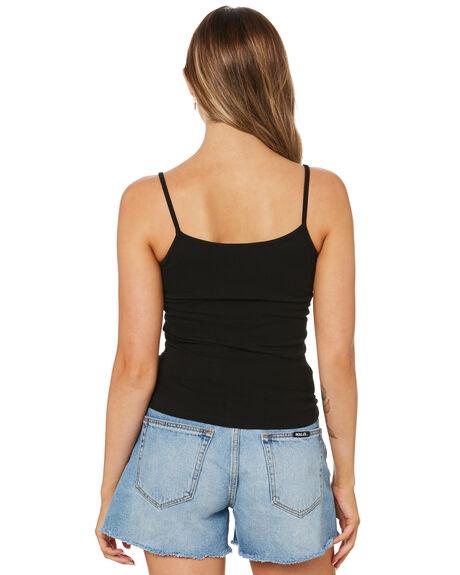 BLACK WOMENS CLOTHING SWELL SINGLETS - S8214007BLACK