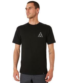 BLACK MENS CLOTHING HUF TEES - TS00894-BLACK
