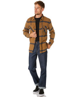 GOLD NAVY MENS CLOTHING BRIXTON SHIRTS - 01000GLNAV