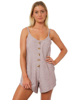 CHERRY STRIPE WOMENS CLOTHING THE BARE ROAD PLAYSUITS + OVERALLS - 991151-06CHES