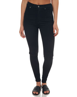 BLACK WOMENS CLOTHING DR DENIM JEANS - 1510112-101BLK