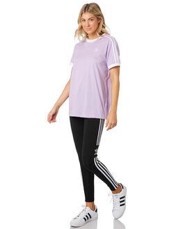 PURPLE GLOW WOMENS CLOTHING ADIDAS TEES - DV2589PUR