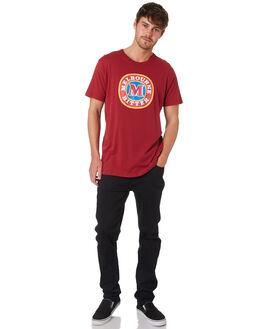 BURGUNDY MENS CLOTHING ROLLAS TEES - 15528170