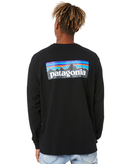 BLACK MENS CLOTHING PATAGONIA TEES - 38518BLK