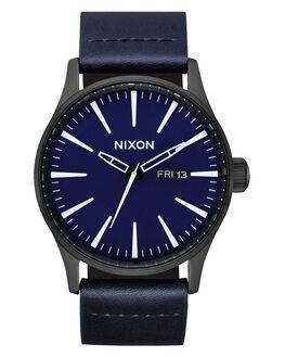 ALL BLACK DARK BLUE MENS ACCESSORIES NIXON WATCHES - A105-2668-BLKBL