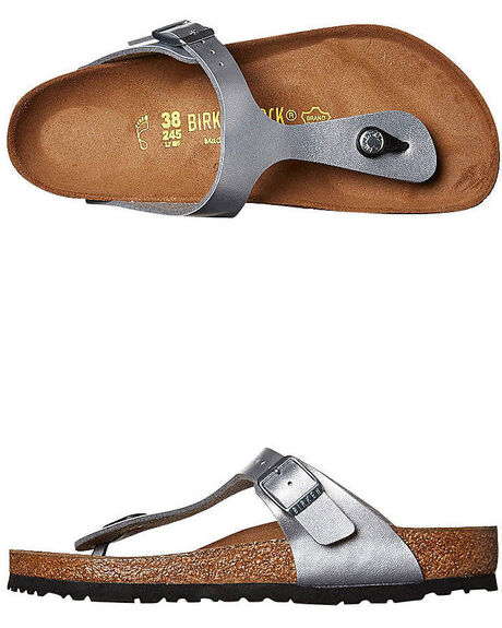 SILVER WOMENS FOOTWEAR BIRKENSTOCK FASHION SANDALS - 043851WSIL