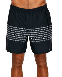 BLACK/WHITE MENS CLOTHING RVCA SHORTS - RV-R393313-BKW