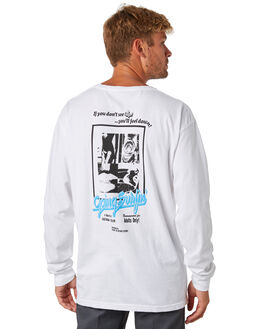 IVORY MENS CLOTHING SURF IS DEAD TEES - SD18P6-07IVRY