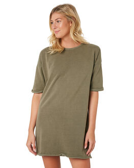 KHAKI WOMENS CLOTHING SILENT THEORY DRESSES - 6010029-KHAK