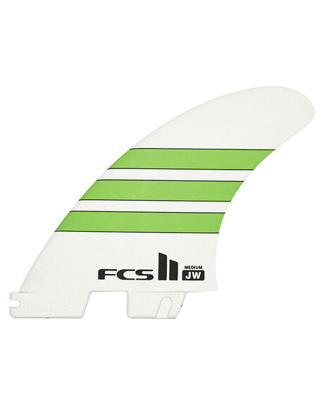 GREEN WHITE SURF HARDWARE FCS FINS - FJWM-PG02-MD-TS