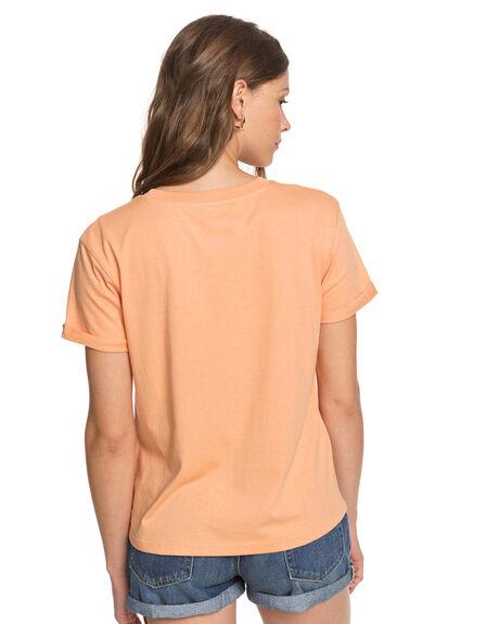 APRICOT WASH WOMENS CLOTHING ROXY TEES - ERJZT04845-NGE0