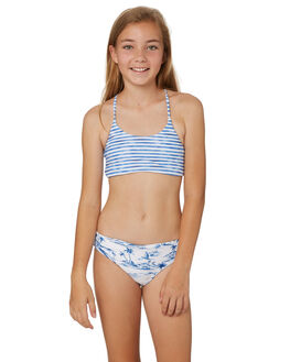 WHITE BLUE KIDS GIRLS SEAFOLLY SWIMWEAR - 27078WHIT