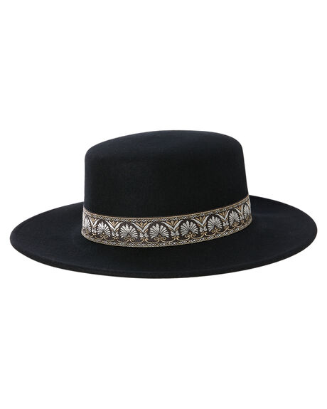 BLACK WOMENS ACCESSORIES ACE OF SOMETHING HEADWEAR - AOS840BLK