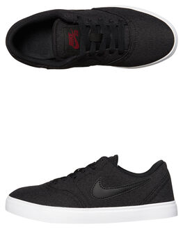 BLACK RED KIDS BOYS NIKE SKATE SHOES - 905373-007
