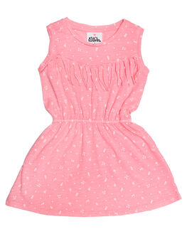 NEON PINK KIDS TODDLER GIRLS EVES SISTER DRESSES + PLAYSUITS - 8021050PNK