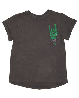 CHARCOAL WASH KIDS TODDLER BOYS ROCK YOUR BABY TOPS - TBT1852-MMCHARW