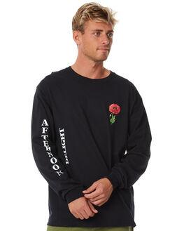 BLACK MENS CLOTHING GOOD WORTH TEES - LAD1811BLACK
